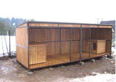 Бытовка (вагончик) ВОЛЬЕР для сторожевых собак